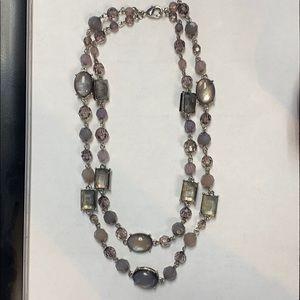 Premier designs lavender grey necklace